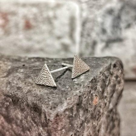 earrings on a cobblers last- handmade sterling silver earrings