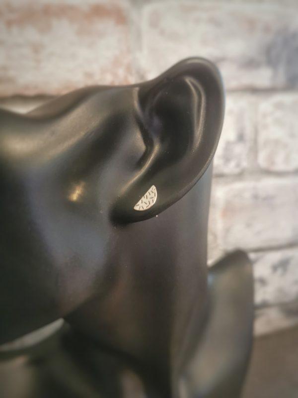 earrings on black manikins- sterling silver geometric earrings
