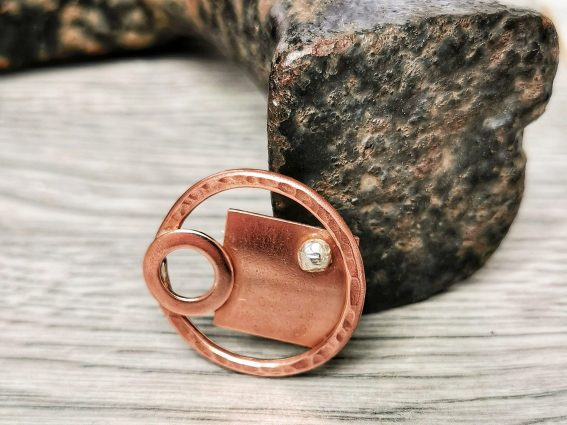 10A Handmade Copper Geometric Brooch