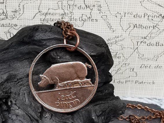 3A Half Penny Coin Pendant