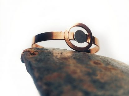 Copy of 9A Handmade Copper and Sterling Silver Circle Bangle_